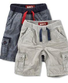 Levi's Baby Shorts, Baby Boys Faux Drawstring Cargo Shorts