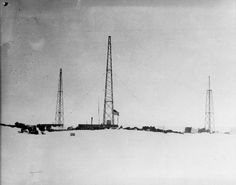 the three radio towers at little america 1929.