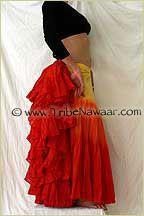 Tribe Nawaar Skirt Tucking Example 25 Yard Tribal Bellydance Skirt The Bustle Tuck Belly Dance Skirt Gypsy Skirt Flamenco Skirt ATS Skirt IT...
