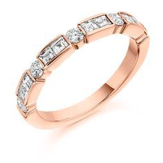 Channel Set 0.75ct Diamond Half Eternity Ring   Reppin & Jones Jewellers