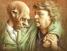 Fred en de stamgast (Portret door Poen de Wijs)