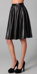 delish Kelly Bergin leather skirt