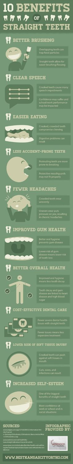 There are several benefits of having straight teeth.