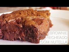 Brownie Recheado de Nutella - Confissões de uma Doceira Amadora - YouTube