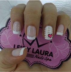 Pin on nails. Pin on nails. Cute Nail Art, Gel Nail Art, Acrylic Nails, Love Nails, Pretty Nails, Diy Ongles, Stylish Nails, Nail Decorations, French Nails