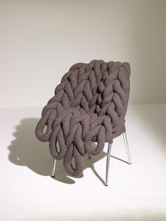 Claire-Anne OBrien - British Wool Chair, Commissioned by Rowan Yarns for British Wool Week Oct. 2010 and exhibited in Liberties window. http://www.claireanneobrien.com/