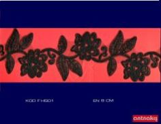 (8cm) Siyah Fransız Danteli