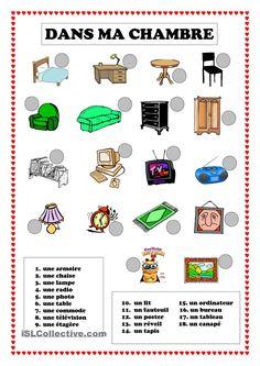 Dans ma chambre | GRATUIT FLE fiches pédagogiques                                                                                                                                                     More