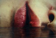 beautiful painting hipster indie Grunge water lips pastel pale realistic soft grunge