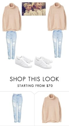 """lisa and lena"" by lisaandlenafan101 ❤ liked on Polyvore featuring Topshop, MANGO and adidas Originals"