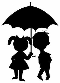 Congratulation - silhouette boy with umbrella Fall Crafts, Diy And Crafts, Paper Crafts, Animal Crafts For Kids, Art For Kids, Elderly Crafts, Simple Flower Drawing, Hedgehog Craft, Class Art Projects
