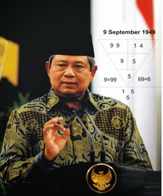 Susilo Bambang Yudhoyono, President of Indonesia, is born 9Sep 1949. A former Army general, dominant & popular during 2004 when he ran for president as shown in his numbers. He has strong character, born with leadership & charisma. He brings success to his country through overseas endeavours, lots of business opportunities, which yield handsome return. Do you know your where your success & opportunities lie? Go to numerology.anelmang.com & find out. #sby #susilo_bambang_yudhoyono #indonesia