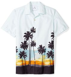New Mens Short Sleeve Slim Fit Button Down Floral Hawaii Beach Shirts Best Mens Flannel Shirts, Cool Hawaiian Shirts, Beach Shirts, Mens Clothing Styles, Men Casual, Casual Fall, Casual Summer, Casual Outfits, Printed Shirts