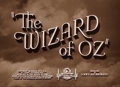 The Wizard Of Oz movie title screen - movies Photo Couldn't wait every year to see this. When the evil monkey's came, my heart beat so fast Wizard Of Oz Movie, Wizard Of Oz 1939, Old Movies, Great Movies, Awesome Movies, Nostalgia, Land Of Oz, Yellow Brick Road, Title Card