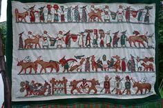 Wandteppich mit Situla Motiven