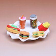 6 Pçs/set Kawaii Bolo Hambúrguer Comida e Bebida Coque Eliminador De Borracha Conjunto de Papelaria Material Escolar Novidade Criativa Caçoa o Presente(China)