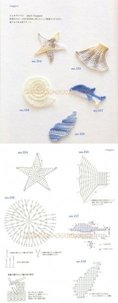 arts and craft books: motif & edging designs magazine, free crochet books - crafts ideas - crafts for kids Appliques Au Crochet, Crochet Motifs, Crochet Diagram, Freeform Crochet, Crochet Chart, Crochet Patterns, Crochet Diy, Crochet Amigurumi, Crochet Books