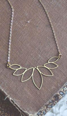 lotus petals necklace