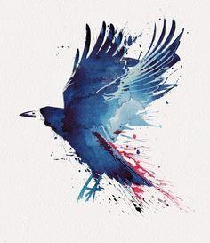 watercolor bird More