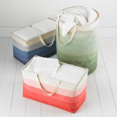 collapsible laundry baskets! i think this may change my life...well or at least my city-sized storage situation. • the container store $20