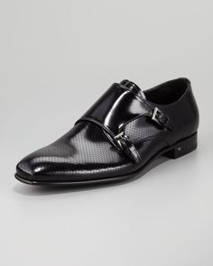 Prada Perforated Monk Loafer