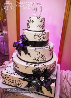 Black and White Cake. Maybe make the base color a light purple instead of white.