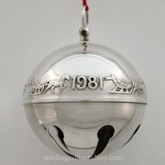 1981 Wallace Sleigh Bell Silverplate Ornament