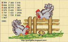 Free Chicken cross stitch