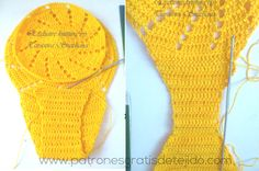 unión de dos circulos para realizar braga crochet bikini Halter Bikini, Bikini Set, Bikinis Crochet, Crochet Woman, Leg Warmers, Fingerless Gloves, Free Pattern, Crochet Patterns, Crop Tops