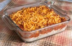 By far my FAVORITE spaghetti dish. Three Cheese Baked Spaghetti. I use only cheddar and mozzarella (equal parts) for the pasta/topping mixture. Always double this recipe because it freezes well for new mom meals.