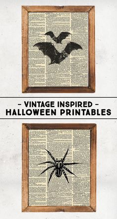 Vintage Inspired Halloween Printables-Halloween DIY Home Decor