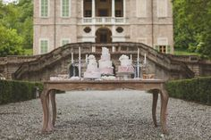 sweet table romantico rosa