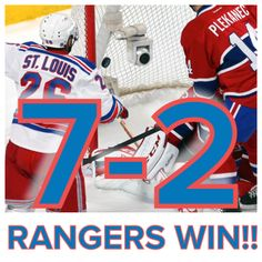 SPORTS And More: #NHL Playoffs  #Montreal -2- #NYRangers -7 F