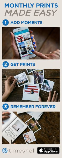 The perfect way to hold on to memories. Use the timeshel app to receive… Photo Projects, Projects To Try, Sparkly Makeup, Making Ideas, Just In Case, Diy And Crafts, Memories, Crafty, Creative