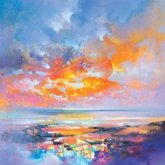 """Scottish Landscape Artist: Scott Naismith""""After 10 years of painting the Scottish landscape, my recent work now becomes more involved with cloudcover and its effect on light and colour through both. Abstract Landscape, Landscape Paintings, Abstract Art, Oil Paintings, Landscape Architecture, Canvas Art Prints, Painting Prints, Art Gallery, Colossal Art"""