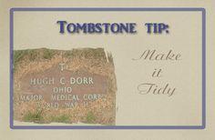 Gravestone Photo Tip: Make It Tidy #genealogy