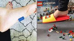 La compañía danesa Lego lanza un calzado especial para evitar daños al pisar sus conocidas piezas