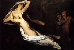 Ary Scheffer, né le 10 février 1795 à Dordrecht et mort le 15 juin 1858 à Argenteuil, est un peintre français d'origine hollandaise. Il s'est imposé parmi les maîtres de la peinture romantique française. Ses compositions dénotent une inspiration mystique et rêveuse.