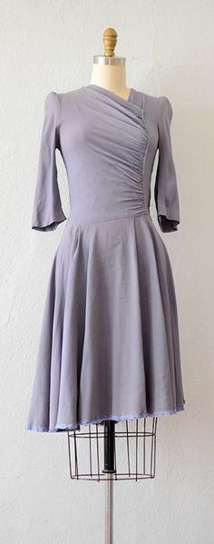VINTAGE 1930S PERIWINKLE GATHERED BODICE DRESS // Lavender Meringue Dress by Adored Vintage #1930s #30svintage