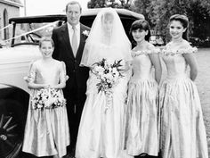 Back in 1991 ... (From left) Kate Ritchie, Ray Meagher, Sharon Hodgson, Nicolle Dickson and Rebekah Elmaloglou on Alf and Carly's wedding day on Home And Away.