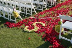 If we find something pretty to do in the aisle or use a runner, I want to do this so that people can't go down it :)