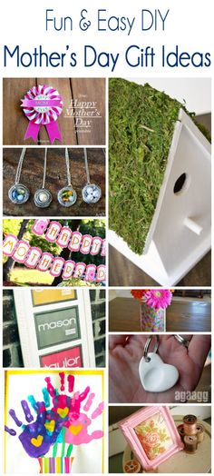 Tons of fun and easy Mother's Day gift ideas! If you are looking for sweet and simple, this round ups for you!