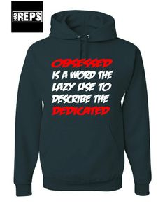 Obsessed/Dedicated HoodieAdult SmallAdult XL by MaxReps on Etsy, $40.00