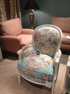 CR Laine's Calais Chair in Williamsburg Aqua | Style Spotted by Gretchen Aubuchon | HPMKT Fall 2012