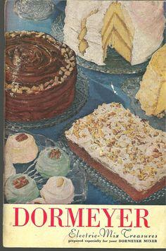 Vintage cakes...love these old cookbooks