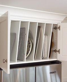above fridge baking sheet etc. storage