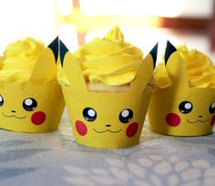 cupcake, pikachu, and yellow image