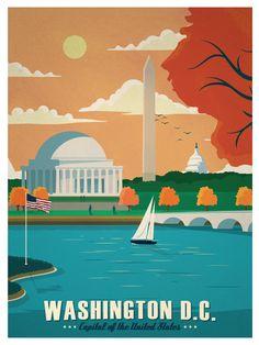 Image of Vintage Washington DC Print