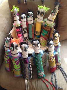 May 2014 snotnormal dolls / group of monster dolls (on Etsy)