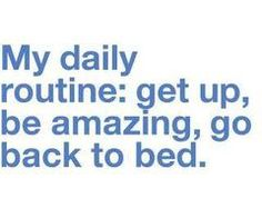 or; Get up, not be amazing, beat myself up about it and try to fall asleep hoping for a redo!